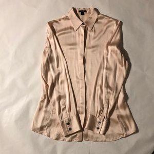 Ann Taylor silk long sleeve blouse